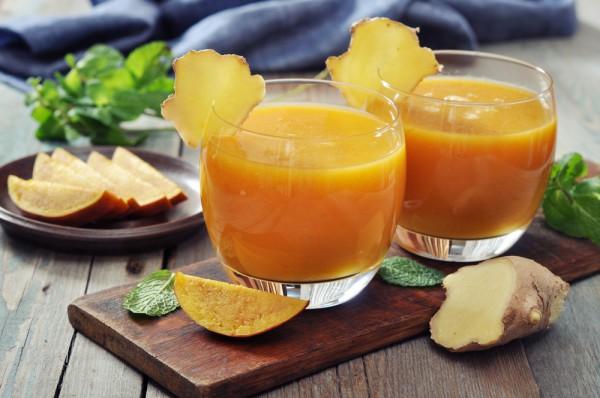 Рецепт завтрака: апельсиновый фреш с имбирем
