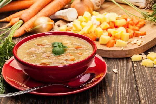 Рецепт                  Гороховый суп с ребрышками