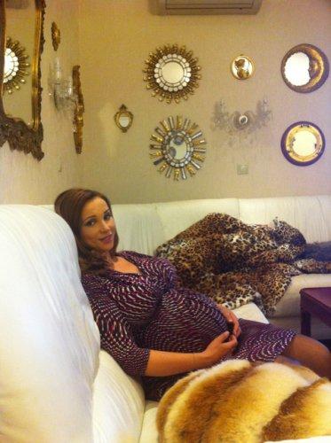Анфиса Чехова на девятом месяце беременности