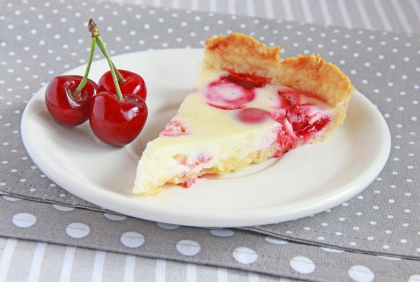 Пирог с черешней и сметаной рецепт с