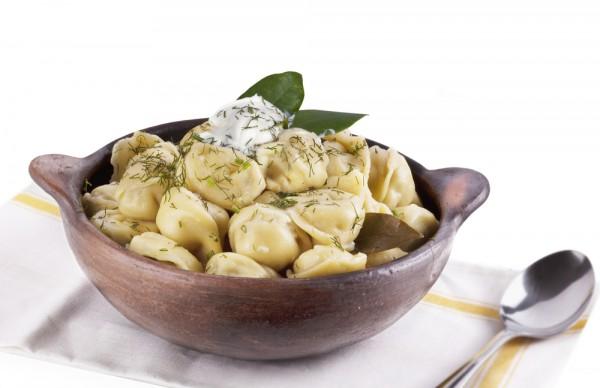 Рецепт                  Пельмени с грибами