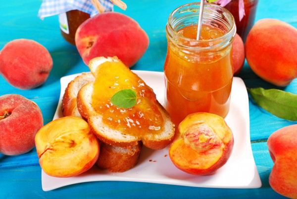 Варенье из персиков, слив и апельсинов
