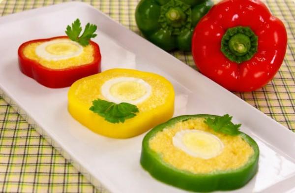 Перец с яично-сырной начинкой