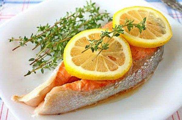 Рецепт                  Жареные рыбные стейки с лимоном