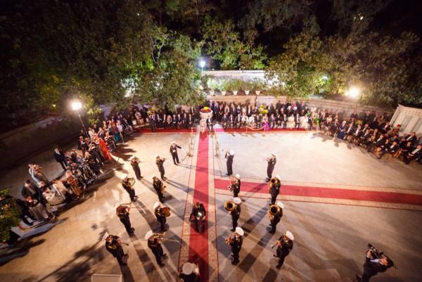 Оркестровое дефиле произвело впечатление на знаменитых гостей приема