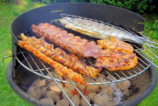 На гриле можно готовить все - от мясных стейков до овощей и фруктов