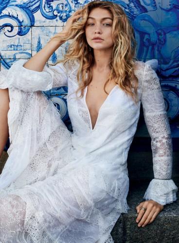 Джиджи Хадид и Донал Глисон для Vogue