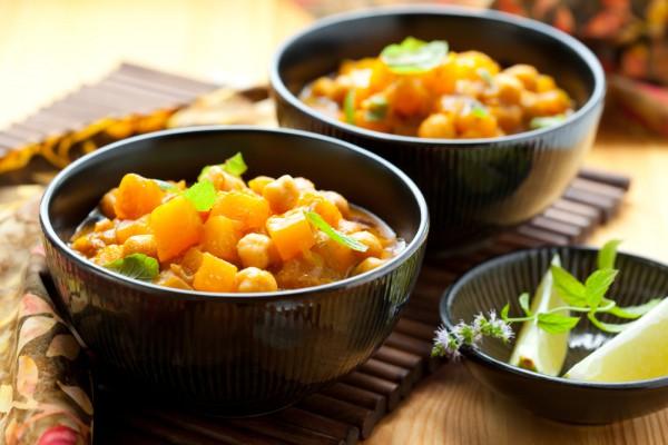 Рецепт                  Постное рагу из тыквы и гороха нут