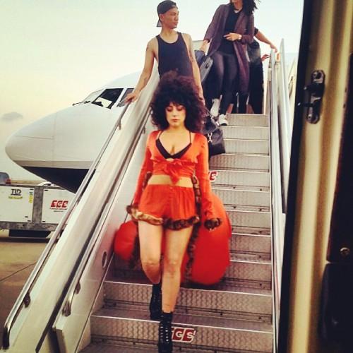 Lady GaGa в аэропорту Турции