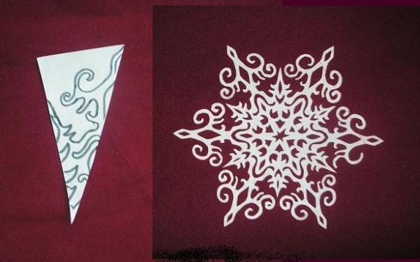 Схемы для снежинок