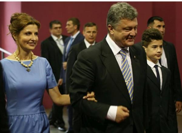 Президент Украины Петр Порошенко и первая леди Марина Порошенко