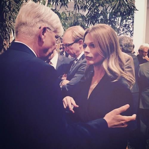 Ольга Фреймут с послом Германии
