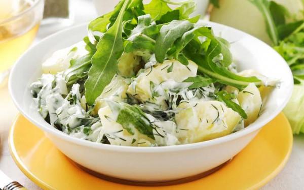 Рецепт                  Молодой картофель с зеленью и сметаной