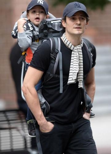 Орландо с сыном в Нью-Йорке