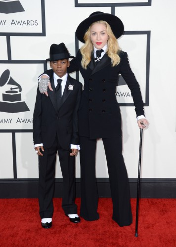 Мадонна с сыном на Грэмми 2014