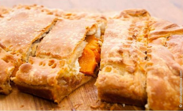 Рецепт                  Несладкий тыквенный пирог
