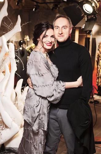 Надежда Мейхер с супругом, бизнесменом Михаилом Уржумцевым