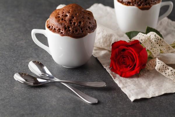 Блюда на 14 февраля: кекс в кружке
