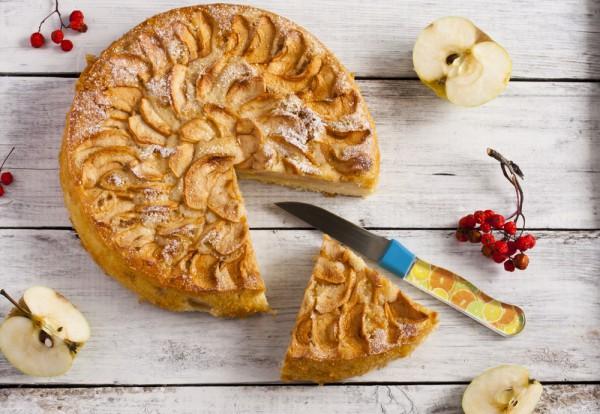 Яблочный пирог с творогом простой рецепт 119