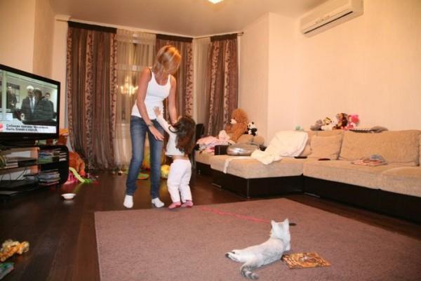 В доме Ксении Бородиной много детских вещей