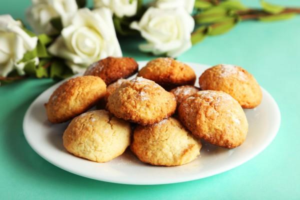 Печенье на День Валентина кокосовое