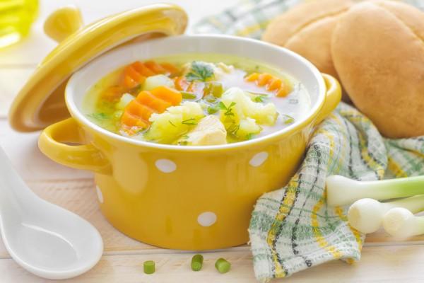Рецепт                  Куриный суп с цветной капустой