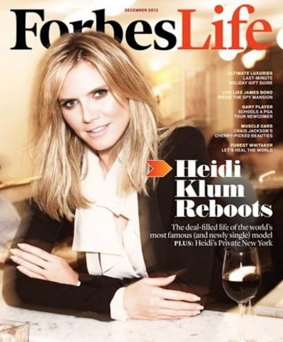 Хайди Клум снялась для обложки Forbes