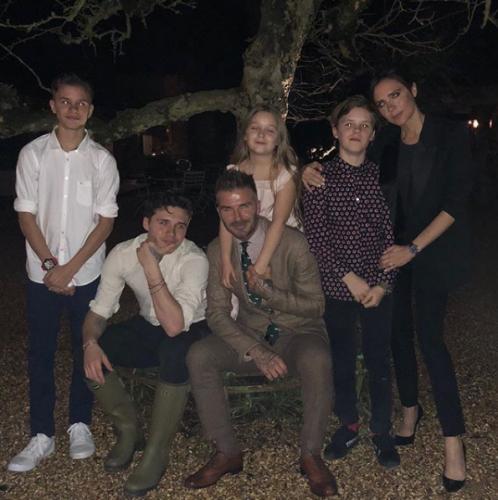 Дэвид Бекхэм с семьей фото