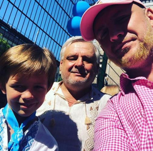 Потап с отцом и сыном фото