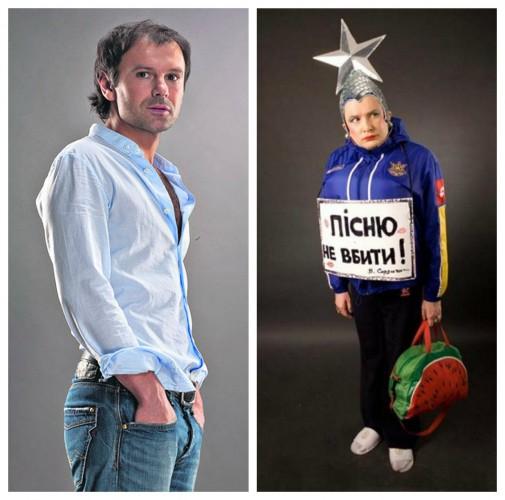 Святослав Вакарчук и Верка Сердючка выступили на новогодней вечеринке в Майами