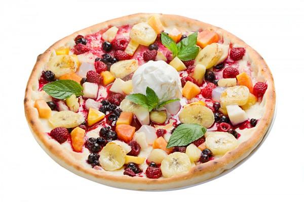 Рецепт                  Фруктовая пицца с творогом