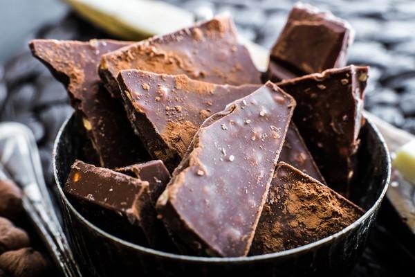 Черный шоколад богат антиоксидантами