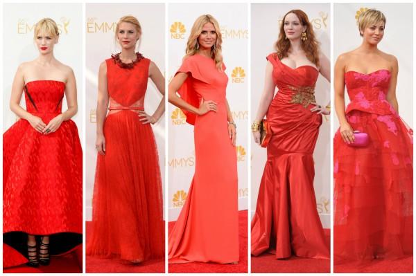 Не по правилам: многие звезды выбрали красные платья для выхода на красную дорожку