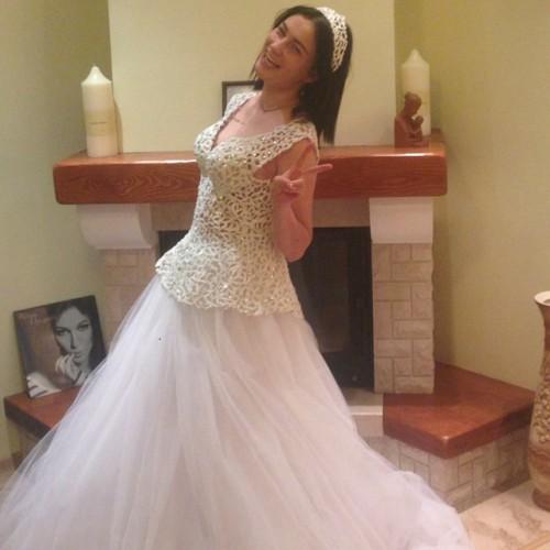 Настя Приходько показала фото со свадьбы, которая была год назад
