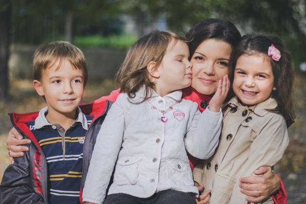 Телеведущая Маричка Падалко с детками