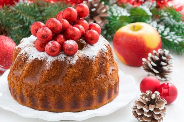 Кекс на Рождество с ванилью
