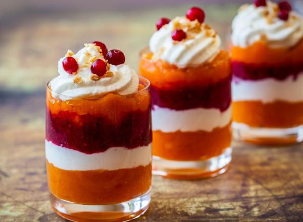 Клюквенный десерт