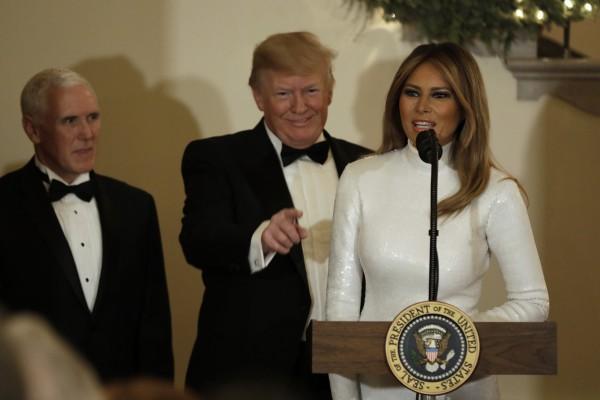 Мелания Трамп с мужем