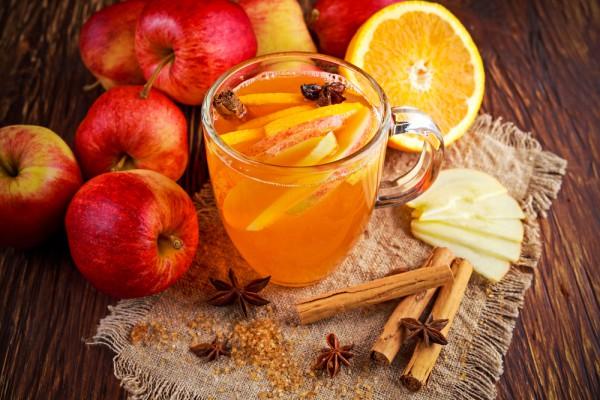 Яблочный сидр с апельсином