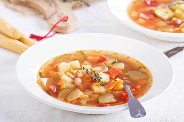 Постный тыквенный суп по-итальянски