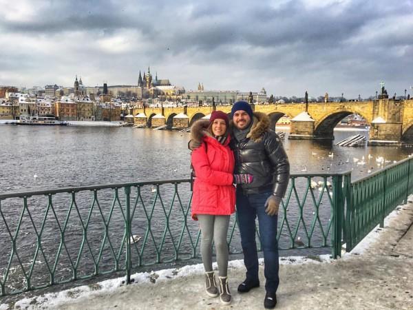 Григорий Решетник с женой на отдыхе фото