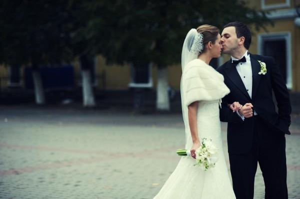 Свадебное фото Григория Решетника с женой