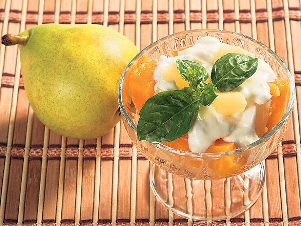 Рецепт                  Фруктовый закусочный салат с сыром горгонзола
