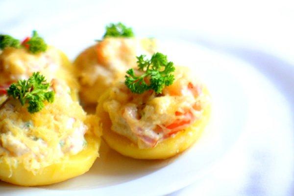 Как приготовить картофель, фаршированный мясом