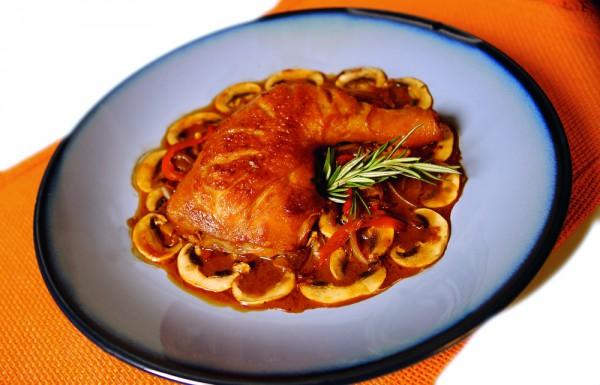Рецепт                  Куриные ножки в пивном соусе