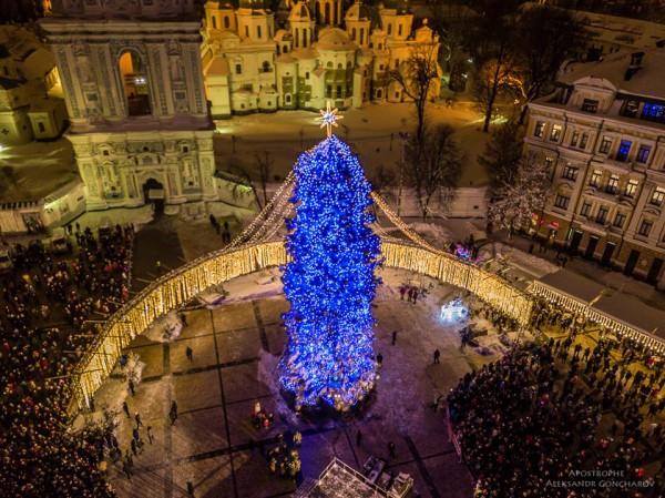 Новогодняя ёлка в Киеве фото