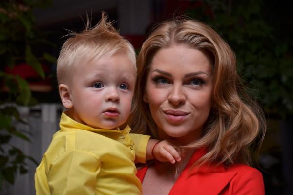 Яна Глущенко с сыном