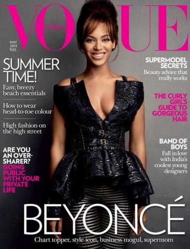 Бейонсе на обложке индийского Vogue, май 2013