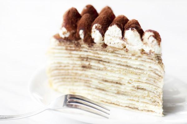 Блинный пирог с творогом