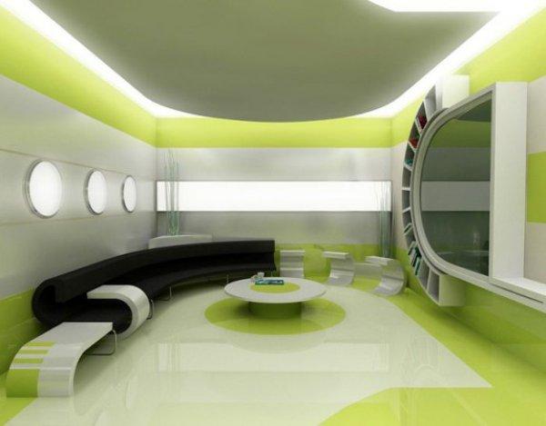 Дизайн интерьера футуристический